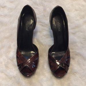 Open toe heels, size 8.5